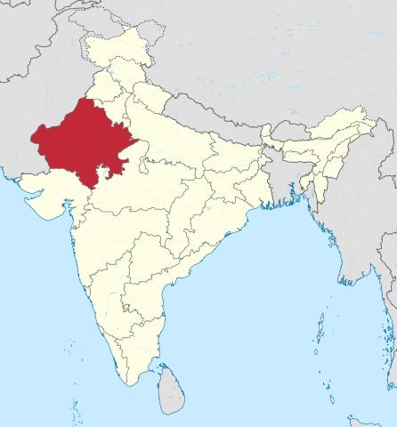 Fernreise Indien - Karte