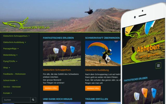 aerocenter Website Relaunch